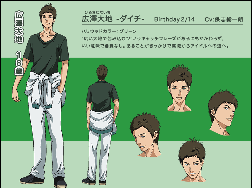 キャラクター CHARACTER|少年ハリウッド: http://www.starchild.co.jp/special/shonen-hollywood-anime/character/